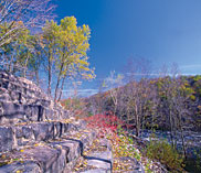 Scenery in White Haven PA, a town along the D&L known for its northern access to Lehigh Gorge State Park