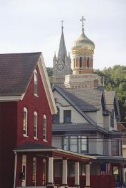 Landmark churches in Lansford, PA, a historic anthracite-mining town along the D&L Corridor