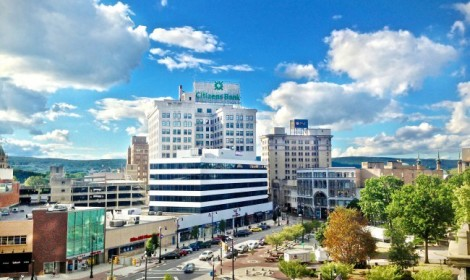 Downtown Wilkes-Barre, PA, a Trail Town at the very tip of the D&L Corridor