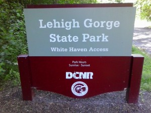 Lehigh Gorge State Park White Haven Access auto welcome