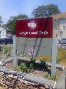 Lehigh Canal Park Trailhead in Weissport, Pennsylvania