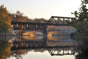 Bridges over the Lehigh Canal in Easton, Pa., part of the D&L Lehigh Valley Region