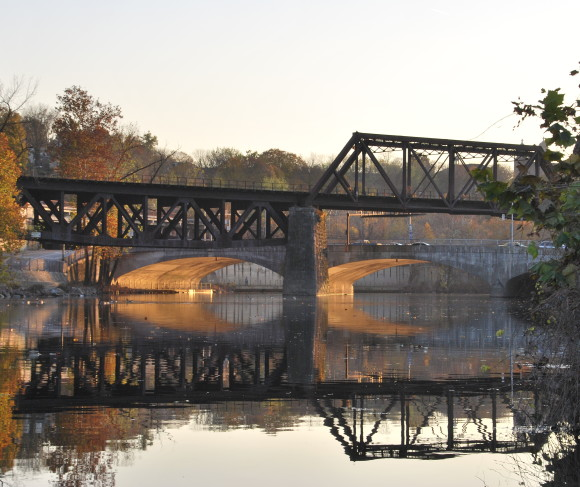 Bridges over the Lehigh Canal in Easton, Pa., part of the D&L Central Region