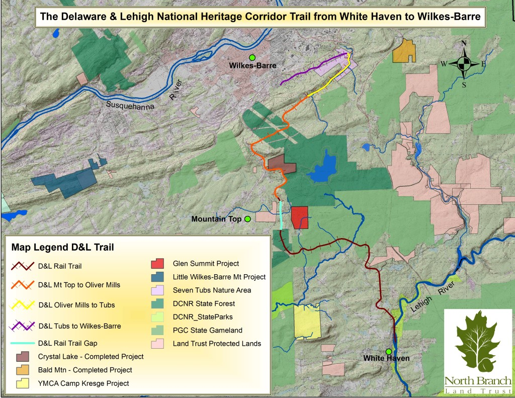 D&L Trail: White Haven to Wilkes-Barre