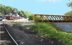 Jim Thorpe Pedestrian Bridge Rendering