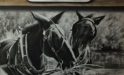 Mule Painting