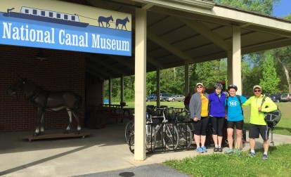 D&L Staff members during 2016's National Bike to Work Week.