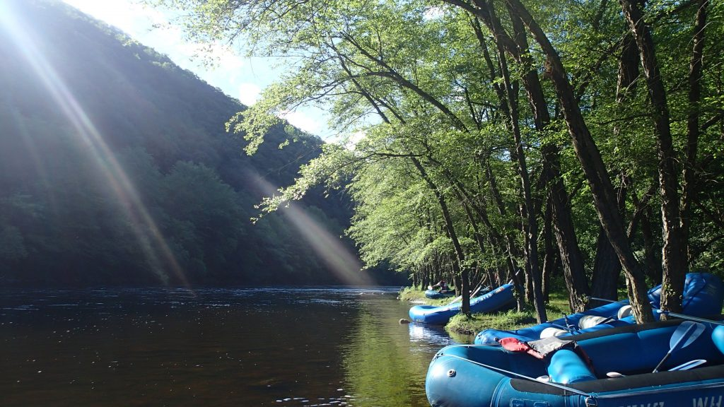 Whitewater rafting trip in Jim Thorpe, PA, a D&L Trail Town.
