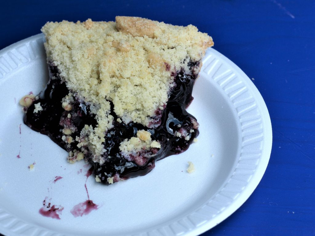 Blueberry pie at the Blueberry Festival in Bethlehem, PA, a Trail Town along the D&L