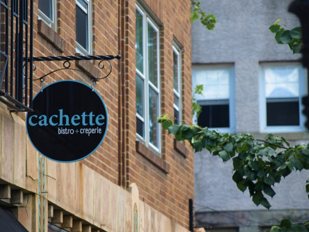 Cachette Bistro & Creperie, a restaurant in downtown Bethlehem PA along the D&L National Heritage Corridor.