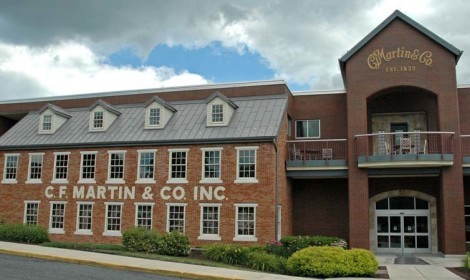 The Martin Guitar Factory situated in Nazareth, PA, a Trail Town along the D&L