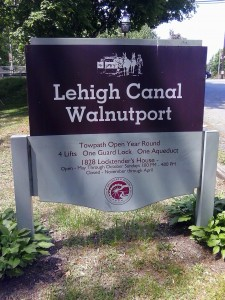 Lehigh Canal Walnutport Sign