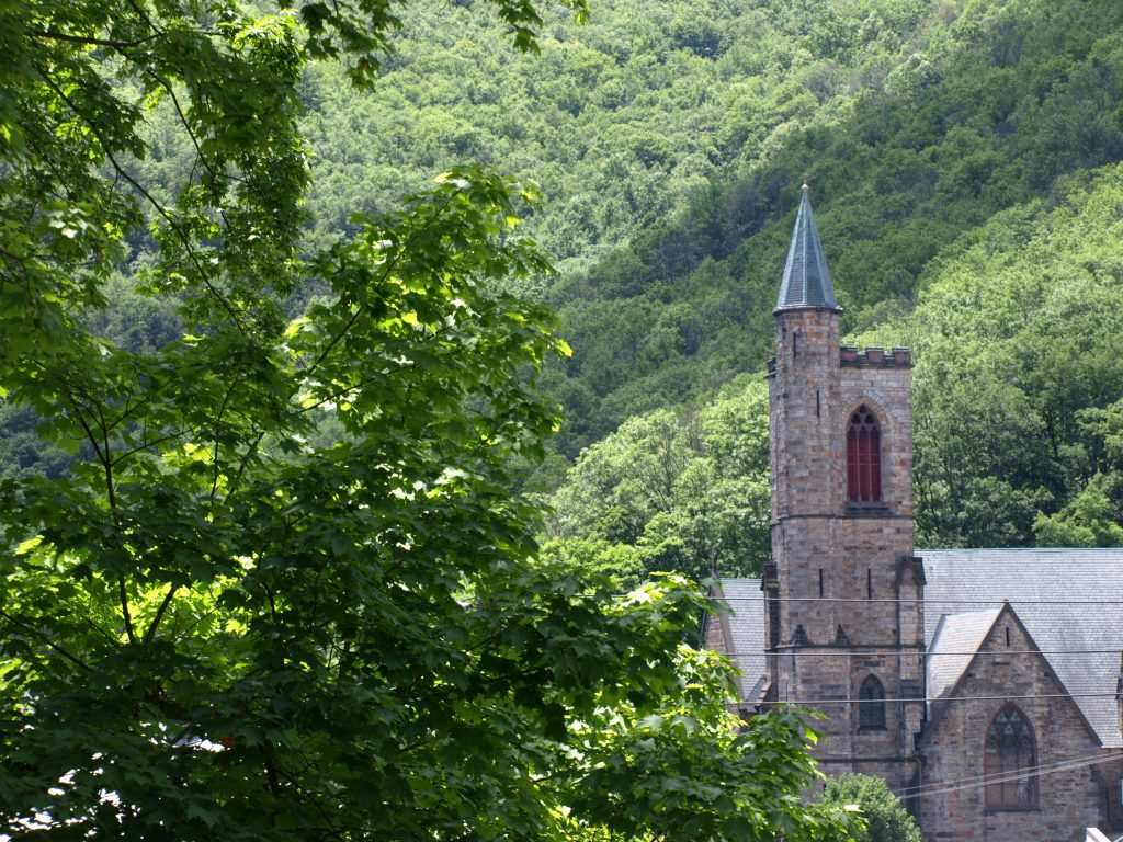 St. Mark's Church in Jim Thorpe, PA, a Trail Town along the D&L.