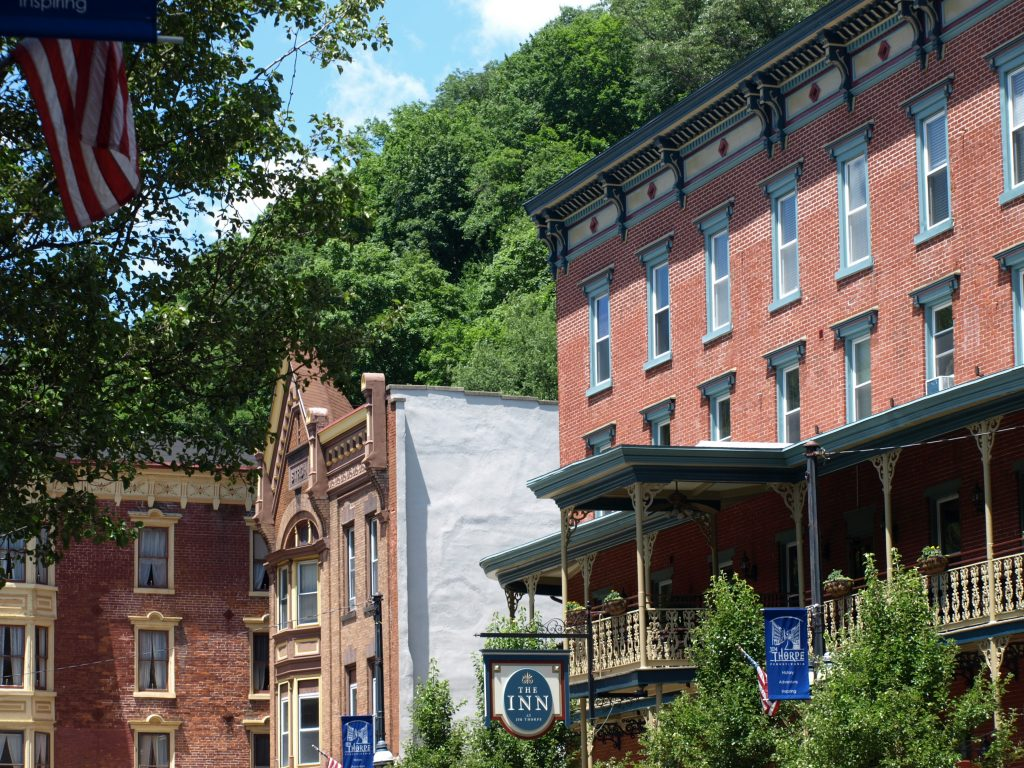 Broadway Grille in downtown Jim Thorpe, PA, a Trail Town along the D&L