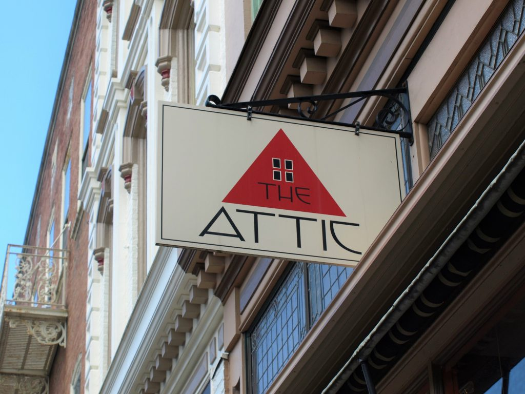 There are lots of shops in Bethlehem, PA, like The Attic, which is easily accessible off the D&L Trail.