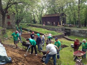 Volunteers working at Freemansburg