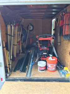 Trail Tender Trailer and Tools