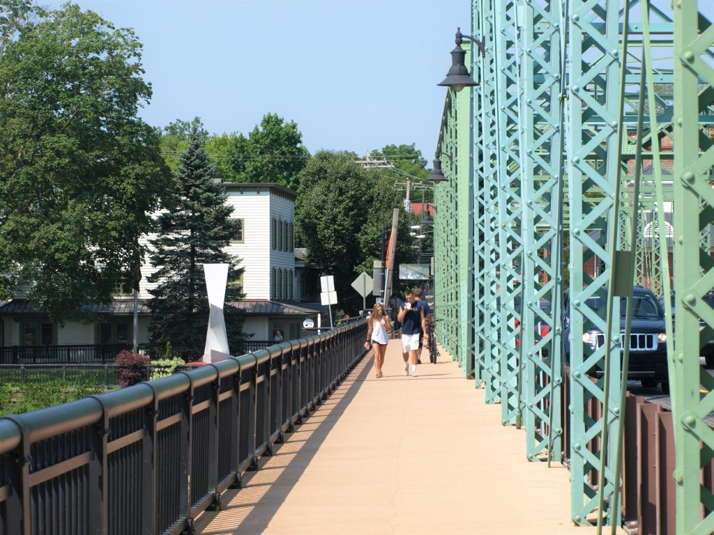 Bridge St. between Lambertville, NJ, and New Hope, PA, a D&L Trail Town