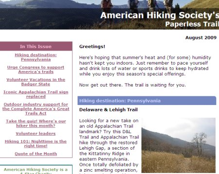 AHS's Paperless Trail features the D&L and AT