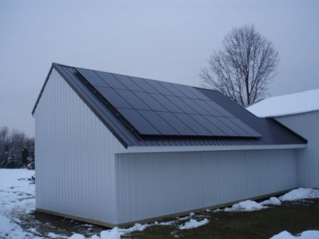 Mike and Amey's new solar panels will gather energy for home consumption or export to the grid.
