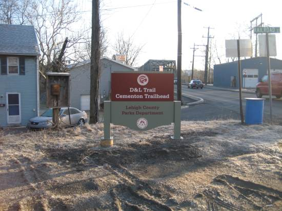 Winter weather provides an opportunity to install signage and other odds and ends.