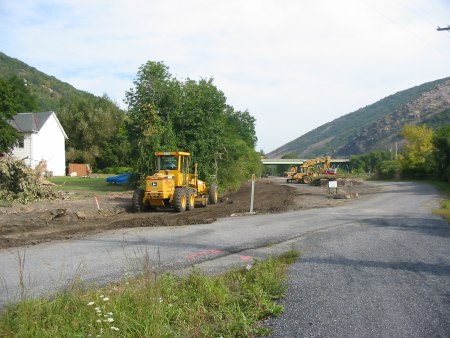 Works continues at the Lehigh Gap Nature Center trailhead