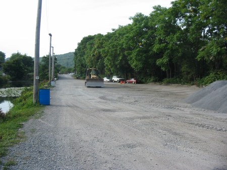 The first day of work at the Weissport trailhead