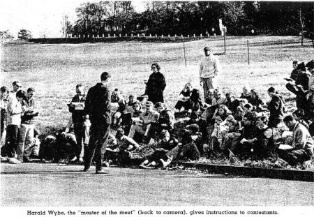 A newspaper photo captured Wibye at an early meet.