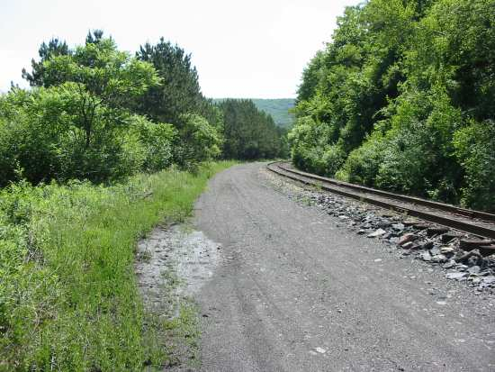 This path, when improved, will link Glen Onoko to downtown Jim Thorpe.
