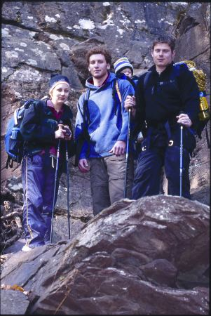 Hikers enjoy Ralph Stover State Park