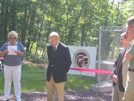 Congressman Paul Kanjorski speaks on the importance of the D&L Trail
