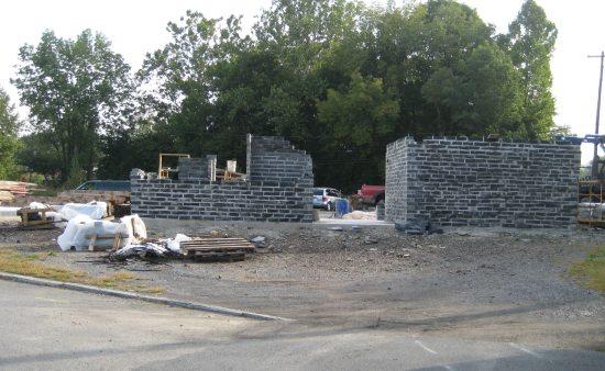 Construction is underway on the Slatington Trailhead Community Building.