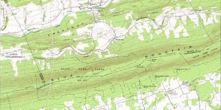 The AT runs along the mountain ridge in southern Monroe County