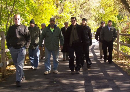 Northampton County officials lead Secretary DiBerardinis on a tour of a  1-mile section of the DCNR-funded Tatamy Rail Trail
