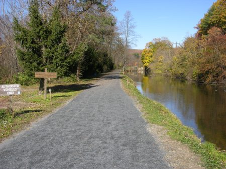 The new trail surface runs for 2.7 miles north of Weissport