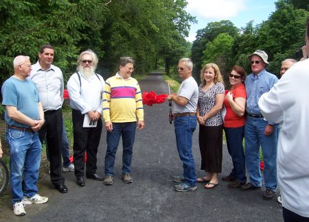 Members of the LCRC cut the final ribbon.